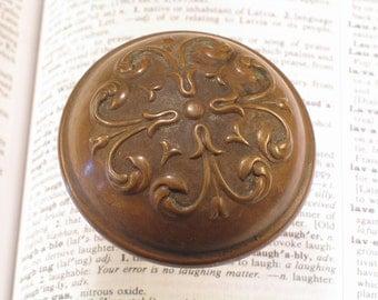 Brass Victorian Door Knob  -- Antique Vintage Doorknobs Hardware #A