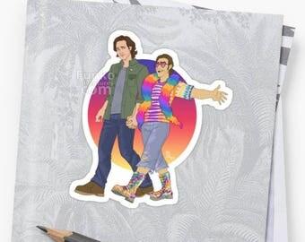 Vinyl Sticker - Supernatural Sabriel - Pride month!