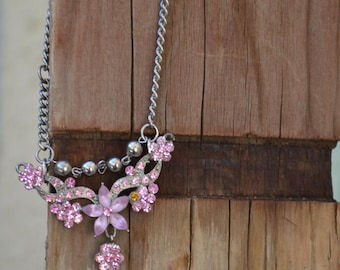 Necklace Vintage Repurpose Paris Chic Bohemian Hippie Easter
