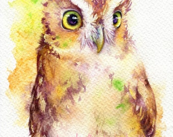 Bright - ORIGINAL watercolor painting 7.5x11 inches