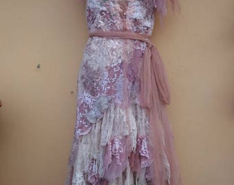 "20%OFF vintage inspired shabby bohemian gypsy dress ..medium to 40"" bust..."