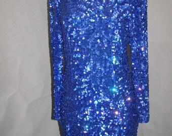 Sequined Party Dress, est size 10-12