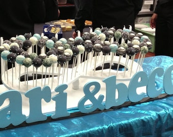 Custom Made Infinity Symbol Cake Pop Stand.  Holds 86 Cake Pops.