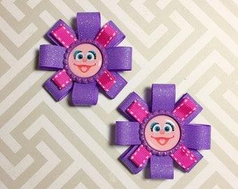 Abby Cadabby Hair Bows || Sesame Street Hair Bows || Abby Cadabby Outfit || Abby Cadabby Birthday || Abby Cadabby Costume | Sesame Street