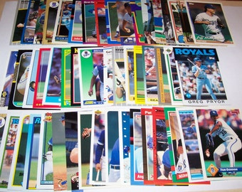 50 Assorted Vintage Kansas City Royal Cards
