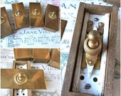 French Chateau Set of 4 Vintage Brass Electrical Light Switches  Industrial Hardware 1930s/Cottage chic/Bourgeois mansion