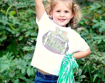 Custom Football Toddler Girls Shirt - Sublimation Football season - custom toddler shirt  - Polka dots