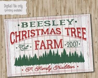 Christmas Print, Christmas Tree Farm Print, Christmas Decor, Christmas Art Print, Holiday, Winter, Holiday Print, Wall Art, Christmas Art,