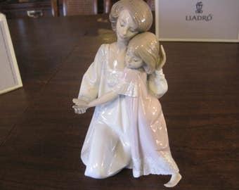 "Lladro ""Good Night"" #5449 Mother Daughter Figurine w/Box"