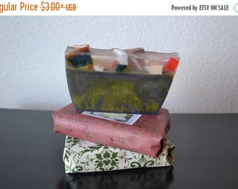 On Sale Soap~Large  Bar~ Artisan Handmade Soap~ Vegan Soap~ HEALING Sandalwood and Lavender  Soap Olive Oil Coconut Oil All Natur
