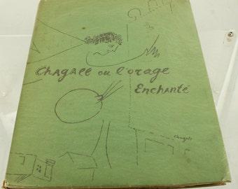 Vintage 1948 Art History Catalog Book Chagall ou L'Orage Enchante Judaica French
