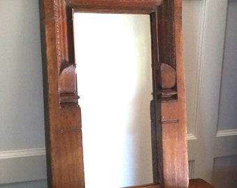 Raj Style Teak Mirror / Vintage Mirror / India / Turkish / Moroccan Style / Shipping Included in the U.S.