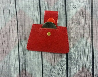 Purse quarter holder~Aldi key chain~snap tab~key fob~grocery store coin keeper~purse fob~zipper pull