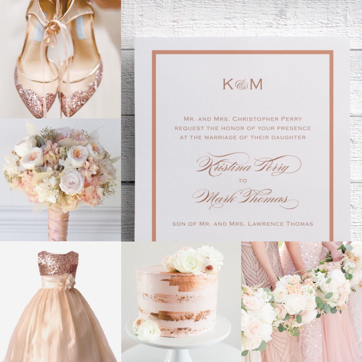 Wedding Invitations Rose: Rose Gold Wedding Invitations Rose Gold Invitation Elegant