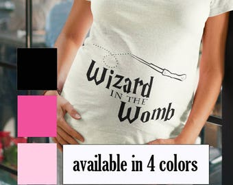 Wizard in the Womb, Harry Potter Maternity Shirt, Harry Potter Pregnancy Shirt, Harry Potter new mom, Harry Potter mom to be shirt