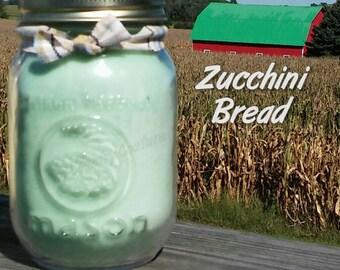 Zucchini Bread Soy Candle in 16 oz Jar
