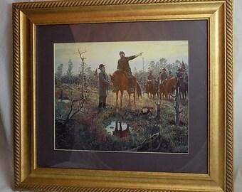"Original Print "" The Last Meeting "" by Mort Kunstler Depicting the Famous Last Meeting of General Lee and General Jackson"