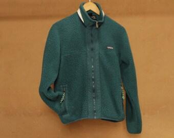 90s GRUNGE fleece TEAL green blue soft PATAGONIA brand teal purple ski fleece