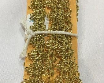 Gold Metallic Braid Sewing Trim