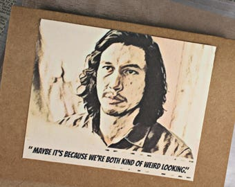 HBO Girls Adam Quote Adam Sackler Caricature Quote Hannahs Boyfriend Caricature Urban Gypsy Handmade Card Set