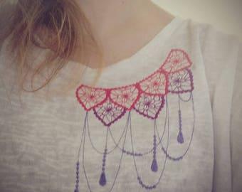Mehndi design Necklace, neckline, mehndi neckline designs,  mehndi embroidery, dream embroidery, beautiful embroidery