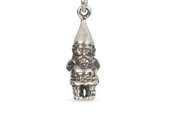 Charm, Garden Gnome, Sterling Silver, 22x6.5mm - 1pc High Quality Shiny (10866)/1