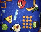 Blue Woven Angry Birds Fa...