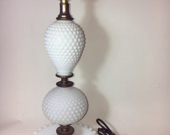 Hobnail milkglass  bedroom lamp