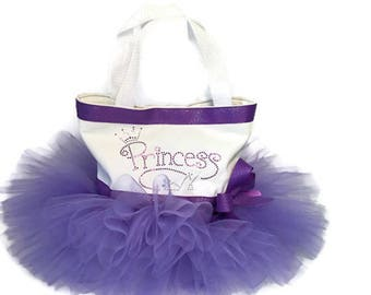 Princess Tutu Tote Bag-Purple-Tutu Tote-Princess-Birthday-Recital Gift-Dance Bag-Christmas-Christening-Baby Gift