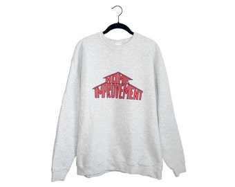 Vintage Home Improvement TV Show Light Heather Gray Longsleeve Crewneck Sweatshirt, Made in USA - XL