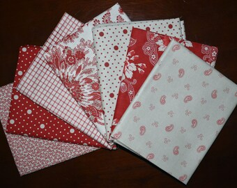 Miss Scarlet Bundle of 7 by Minick and Simpson for Moda