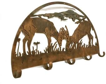 Coat Rack | Hunting Decor | Wall Decor | Deer Hunting Decor | Home Decor |  Hunter Gift | Metal Wall Decor | Hunting Decoration | Hunter