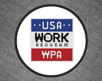 WPA Cross Stitch Pattern
