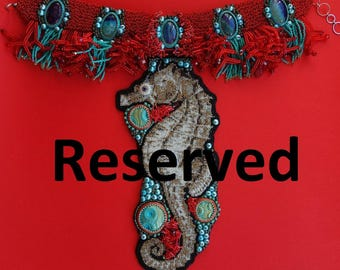 Reserved for birtasophia seahorse 2 necklace