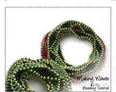 FLASH SALE Beading Pattern Double Triple Multi Wrap Cubic Right Angle Weave DNA Bangle Beading Instructions Jewelry Tutorial Pdf Download Ma