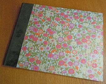 Large Spring Garden Blank Guest Book Album
