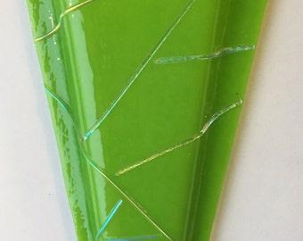 Medium Fused Glass Wall Vase
