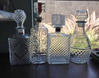 Vintage Decanters for Home Bar Decor