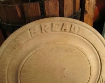 Antique Primitive Hand Carved Bread Board. Nice  Kitchen Decor.