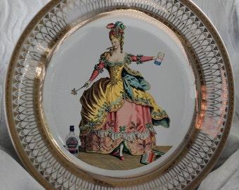 """Gold """"Drunken Marie Antoinette"""" Plate - French Plate, Marie Antoinette Dishes, Cake Dishes"""