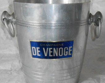 French vintage De Venoge champagne ice bucket