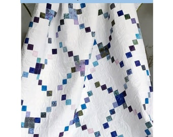 Layer Cake Quilt Pattern - Missing Links Quilt Pattern - Sizes Crib to King - Confident Beginner - Hard Copy Version