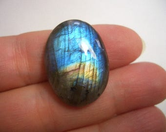 Natural blue Labradorite cabochon, natural gemstone, deep blue flash labradorite, gold flash, quality gemstone, natural Labradorite (#12)
