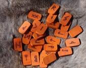 Paduak rune set - Elder Futhark - Viking - FREE DOMESTIC SHIPPING