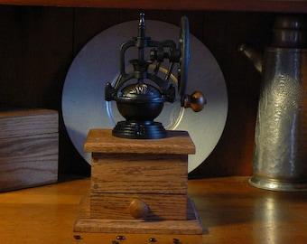 Mechanical Coffee Grinder - Mechanical Coffee Mill - Fresh Ground Coffee - Handmade wooden base - Burr Grinder - Foodie -CG100