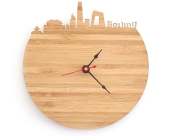 "Beijing Clock - 7"" Walnut SAMPLE"