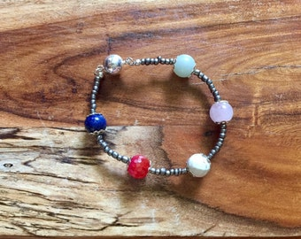 Samantha bracelet in Mixed Brights and Antique Silver