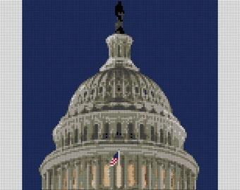 US Capitol Dome Needlepoint Kit