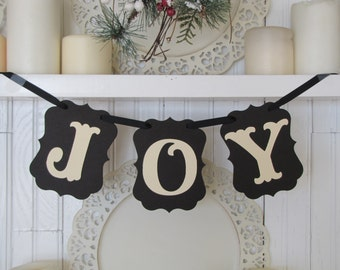 JOY   Christmas Banner, Christmas Decoration, Christmas Sign,  Christmas Photo Prop
