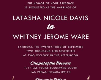 Custom Listing for Mr. and Mrs Ware, Burgundy and Rose Gold Wedding Invitation Set | Laurel Wreath Stationery | Discount Invite Suite